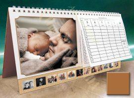 Asztali naptár - barna színű képkeret