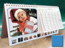Asztali naptár - kék színű képkeret