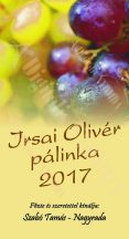 Pálinka címke - Irsai Olivér