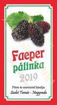 Pálinka címke - Faeper