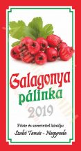 Pálinka címke - Galagonya
