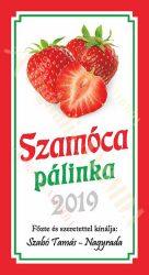 Pálinka címke - Szamóca
