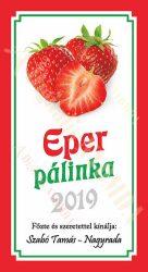 Pálinka címke - Eper