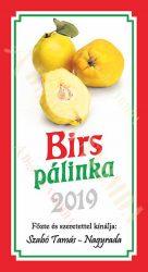 Pálinka címke - Birs