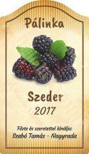 Pálinka címke - Szeder