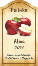 Pálinka címke - Alma